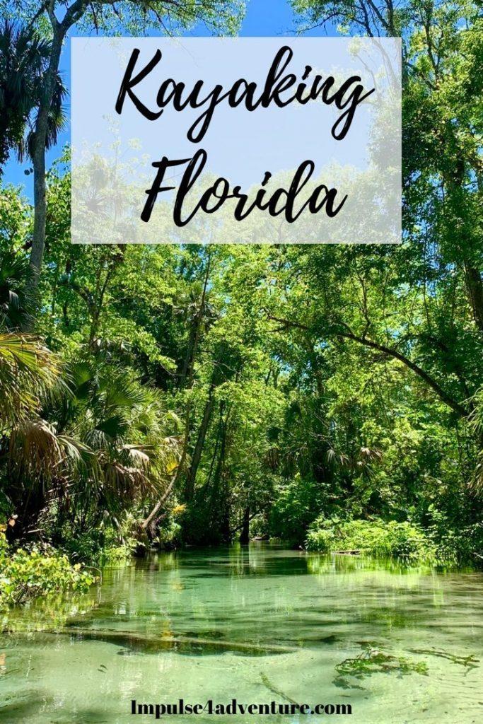 Kayaking Florida Pin for Pinterest